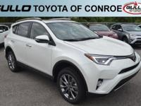 White 2018 Toyota RAV4 Limited 29/23 Highway/City MPG