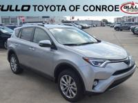 Silver 2018 Toyota RAV4 Limited 29/23 Highway/City MPG