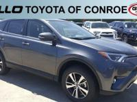 Gray 2018 Toyota RAV4 XLE 30/23 Highway/City MPG  Let