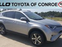 Silver 2018 Toyota RAV4 XLE 30/23 Highway/City MPG  Let