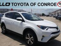 White 2018 Toyota RAV4 XLE 30/23 Highway/City MPG  Let