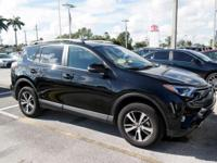 Clean CARFAX. Cloth. Black 2018 Toyota RAV4 2.5L