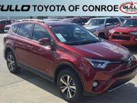 Red 2018 Toyota RAV4 XLE 30/23 Highway/City MPG  Let