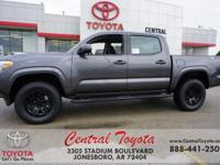 Magnetic Gray Metallic 2018 Toyota Tacoma SR 4D Double