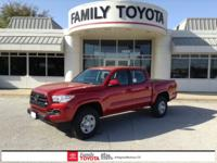 Barcelona Red 2018 Toyota Tacoma SR RWD 6-Speed