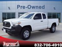 This White 2018 Toyota Tacoma Access Cab 2WD at might