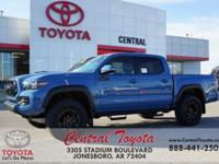 4WD. Blue 2018 Toyota Tacoma TRD Pro 4D Double Cab 4WD