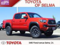2018 Toyota Tacoma 4D Double Cab Inferno Red 4WD V6 TRD