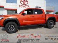 4WD. Inferno Red 2018 Toyota Tacoma TRD Offroad 4D
