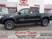 4WD. Midnight Black 2018 Toyota Tacoma TRD Offroad 4D
