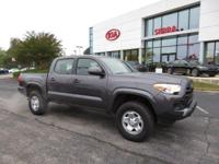 Clean CARFAX. Gray 2018 4D Double Cab Toyota Priced