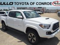 White 2018 Toyota Tacoma TRD Sport  Let the team at