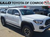 White 2018 Toyota Tacoma TRD Offroad  Let the team at