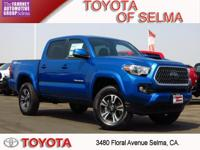 2018 Toyota Tacoma 4D Double Cab Blue Pearl RWD V6 TRD