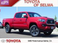2018 Toyota Tacoma 4D Double Cab Barcelona Red 4WD V6