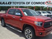 Red 2018 Toyota Tundra Platinum  Let the team at Gullo