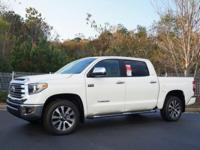 Super White 2018 Toyota Tundra Limited CREWMAX 5.7L V8