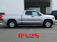 The Tundra has a V8, 5.7L high output engine. The