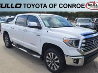 White 2018 Toyota Tundra Limited  Let the team at Gullo