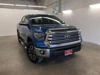 Certified. Blue 2018 Toyota Tundra Limited 4WD 6-Speed