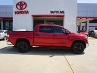 Cloth. Red Hot! Crew Cab!   Supreme Toyota is delighted