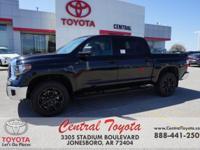 4WD, Graphite. Midnight Black 2018 Toyota Tundra SR5 4D