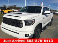 2018 Toyota Tundra in Super White exterior and Black