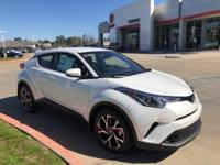 2018 Toyota C-HR in Bliz Prl exterior and Blk/Blk