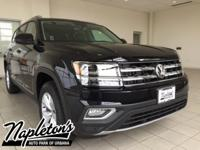 2018 Volkswagen Atlas in Black, AUX CONNECTION, USB,