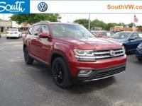 Recent Arrival! 2018 Volkswagen Atlas SEL Red  Options: