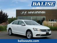2018 Volkswagen Passat 2.0T SE one owner with a perfect