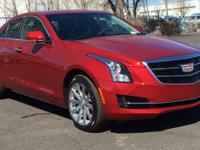 New Price! Red 2018 Cadillac ATS 2.0L Turbo Luxury AWD