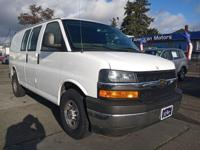 Clean CARFAX. Summit White 2018 Chevrolet Express 2500