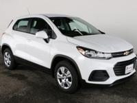 "Summit White 2018 Chevrolet Trax LS 16"" Steel Wheels,"