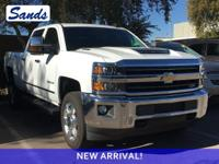 Clean CARFAX. Summit White 2018 Chevrolet Silverado