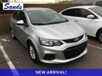 Clean CARFAX. Silver Ice Metallic 2018 Chevrolet Sonic