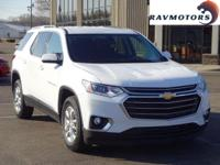 This is the sleek 2018 Chevy Traverse LT. Equipped with