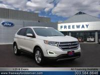 White Platinum Clearcoat Metallic 2018 Ford Edge SEL