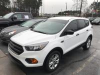 White 2018 Ford Escape S FWD 6-Speed Automatic 2.5L