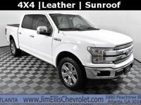 CARFAX One-Owner. Oxford White 2018 Ford F-150 Lariat