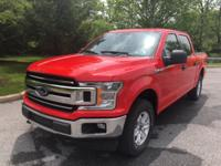 CARFAX One-Owner. Red 2018 Ford F-150 XLT 4WD 10-Speed