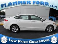 2018 Ford Fusion Hybrid White Platinum Metallic