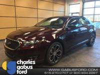 Burgundy 2018 Ford Taurus SHO AWD 6-Speed Automatic
