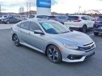 2018 Honda Civic Touring Silver Metallic FWD CVT 1.5L