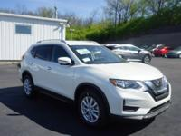 $1,402 off MSRP! 2018 Nissan Rogue SV Pearl White SV