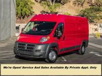 This 2018 Ram ProMaster Cargo Van 3dr 2500 High Roof