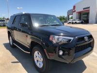 2018 Toyota 4Runner in Black exterior and Sld Blk-Terra