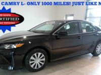 2018 Toyota Camry L, Dealer Demo with only 1000 Miles!