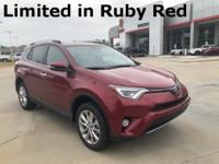 2018 Toyota RAV4 in Red exterior and Ash interior, This