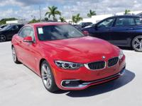 2019 BMW 4 Series 430i 34/24 Highway/City MPG  Options:
